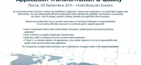S.T.E. vi invita alla conferenza 'Application Transformation & Quality'