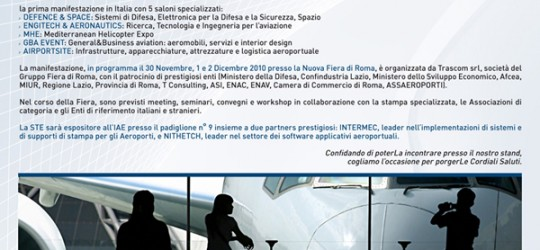 S.T.E. sarà presente all'Evento IAE